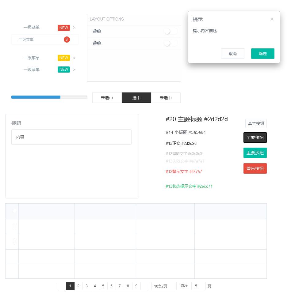 后台元件库-Agile UI 规范