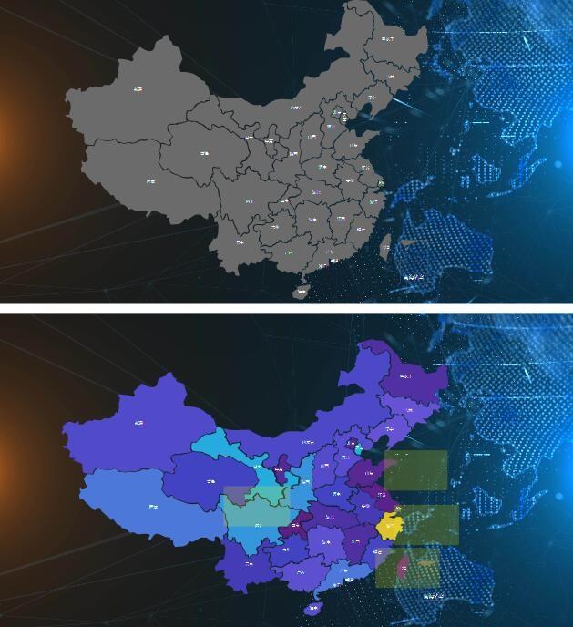 中国地图组件非图片